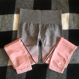 Ombre gymshark seamless leggings
